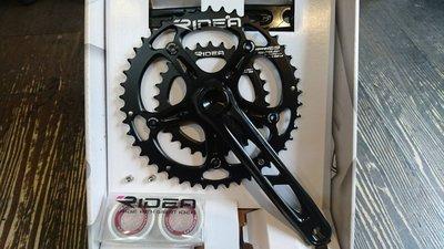 [304bike 台北市]Ridea 46 30 T 壓縮盤+摟空腿 KOM腿組 鋼軸心 重量615g 46/30 大盤