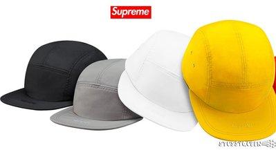 【超搶手】全新正品2015 秋冬Supreme Visor Logo Camp Cap 刺繡字體 素色 五分割帽 白色