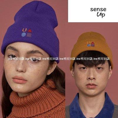 ins明星同款女裝SENSEUP新款20冬韓國正品UNA新LLOYED設計師品牌logo百搭帽子OP60