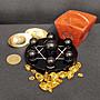 [台灣賣家]高質感風水開運玻璃底座水晶球七星陣黑曜石七星陣含黑曜石底座