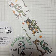 【R的雜貨舖】紙膠帶分裝 非整捲 なかよし 河童堂 青蛙貓好朋友