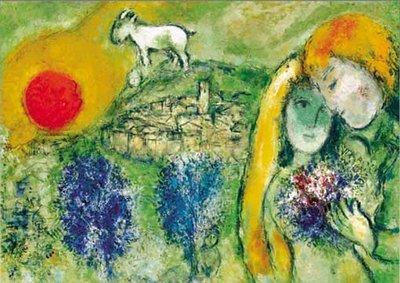 歐洲進口拼圖 Ric 名畫 戀人 夏卡爾 Chagall 500片拼圖 09473