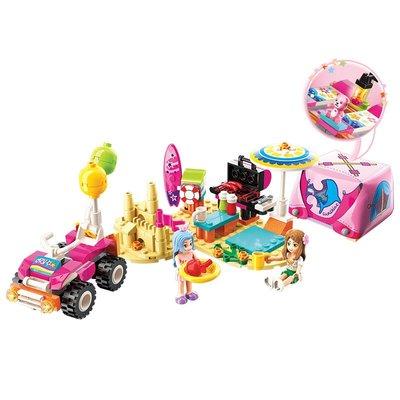 玩具小孩禮物啟蒙(ENLIGHTEN)拼裝積木立體拼插兒童玩具女孩生日禮物公主系列沙灘露營2018
