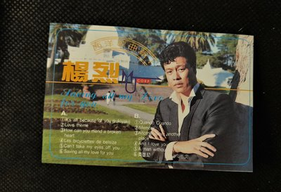 錄音帶 /卡帶/ E / 楊烈 / 1986 西洋歌曲 / Its all because of you / POP 拍譜 / 非CD非黑膠 /