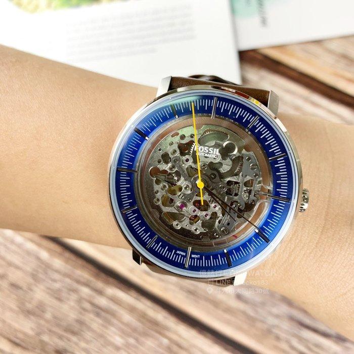 FOSSIL美國品牌Chase系列鏤空機械紳士腕錶ME3162原廠公司貨