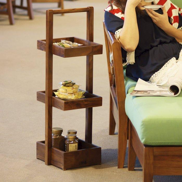 柚木 提籃式置物架 (經典)【大綠地家具】100%印尼柚木實木/經典柚木/柚木置物架/柚木提籃