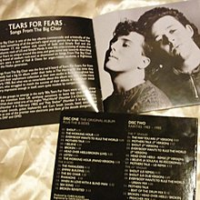 Tears for Fears 驚懼之淚 Songs from the Big Chair 2CD