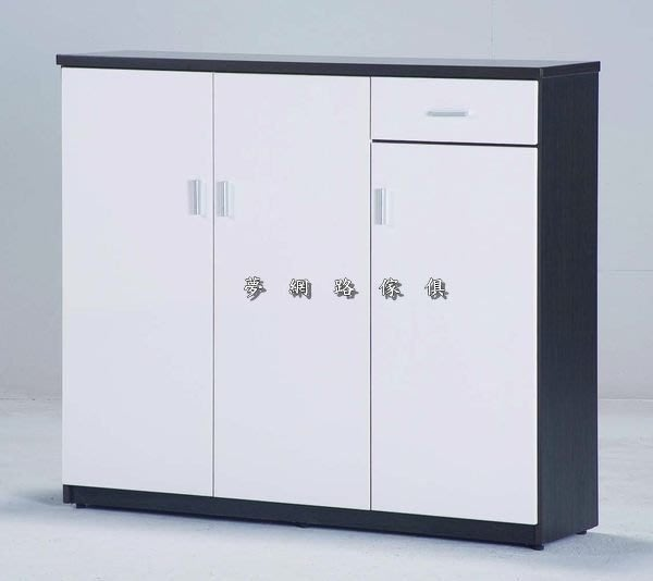 【龍來傢俱】17J『防水4尺雙色塑鋼開門鞋櫃』