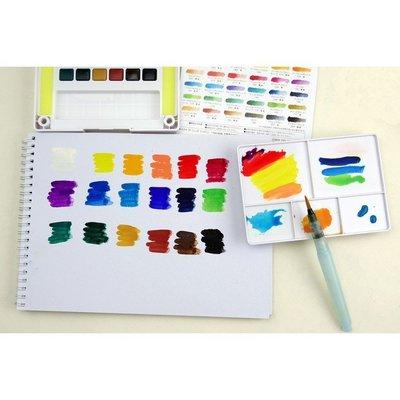 *NOAH*預購 日本櫻花30色透明固體水彩套裝櫻花寫生水彩顏料/水彩餅/調色盤 (PVC包裝