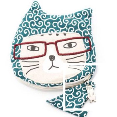 Verna&Co{現貨}日本進口雜貨貓丸家忍者貓咪造型布面零錢包收納包