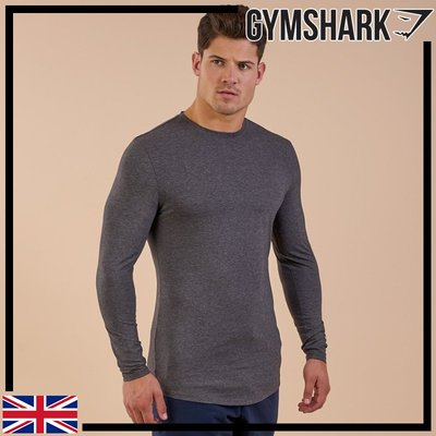 GYMSHARK SOLACE LONGLINE LONG SLEEVE T-SHIRT 舒適長版長袖T恤-炭