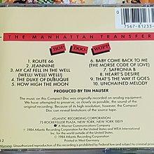 R西洋團(二手CD)THE MANHATTAN TRANSFER BOP DOO-WOPP