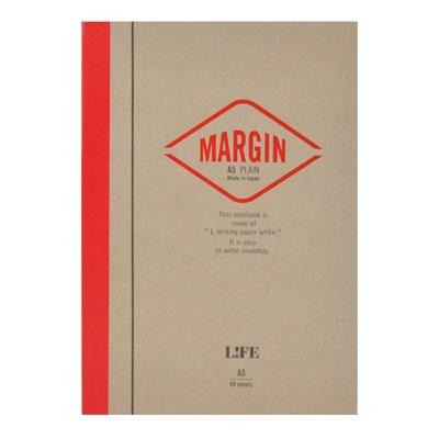 =小品雅集=日本 LIFE MARGIN NOTE A5筆記本(空白)