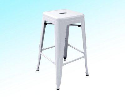 !新生活家具!《奧莉薇》白色 工業風 loft 亮面 中吧檯椅 鐵椅 餐椅 高凳 tolix 復古 鐵皮 美式 六色
