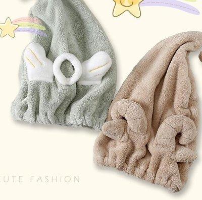 卡通浴帽快速干發帽強力吸水毛巾速干包頭巾成人擦頭髮加厚干發巾