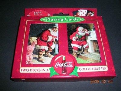 可樂撲克牌-聖誕版(2付裝禮盒)