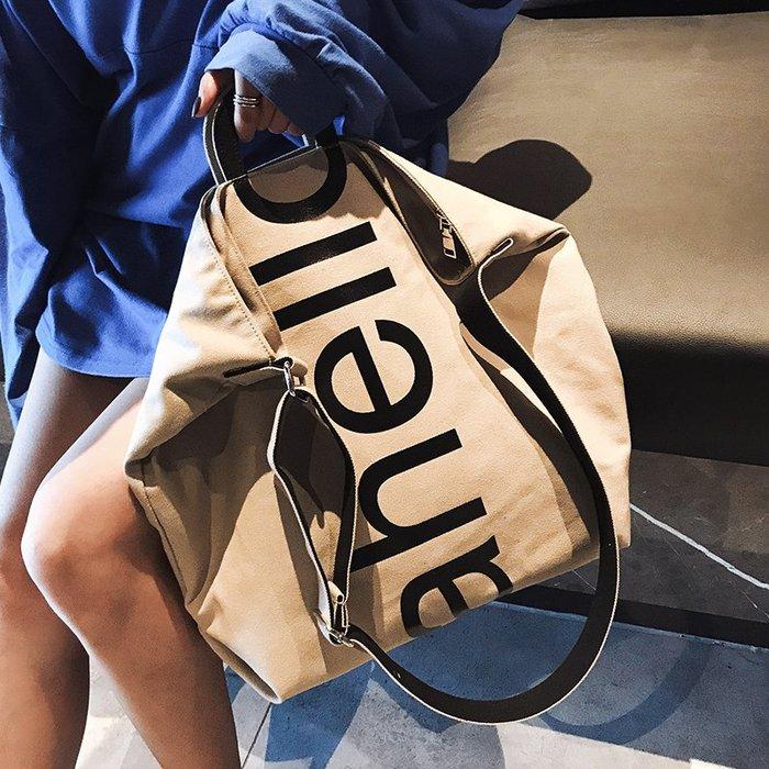 XINXIN女包ins單肩包韓版 時尚新款 日韓系列 迷人包 女生包女大包包新款帆布容量潮韓版百搭慵懶風斜挎包