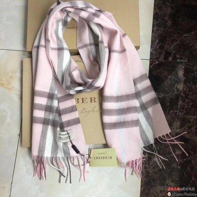 美國大媽代購 Burberry 巴寶莉 經典格紋 時尚潮流 男女通用款圍巾 美國outlet代購