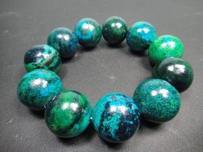 【優質家】天然罕見漂亮蘇聯綠藍寶石手珠20mm(回饋價便宜賣)限量20組(賣完恢復原價500元)