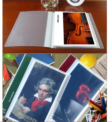 A4譜夾樂譜夾子活頁文件透明學生用多層插頁改譜本歌譜鋼琴譜夾