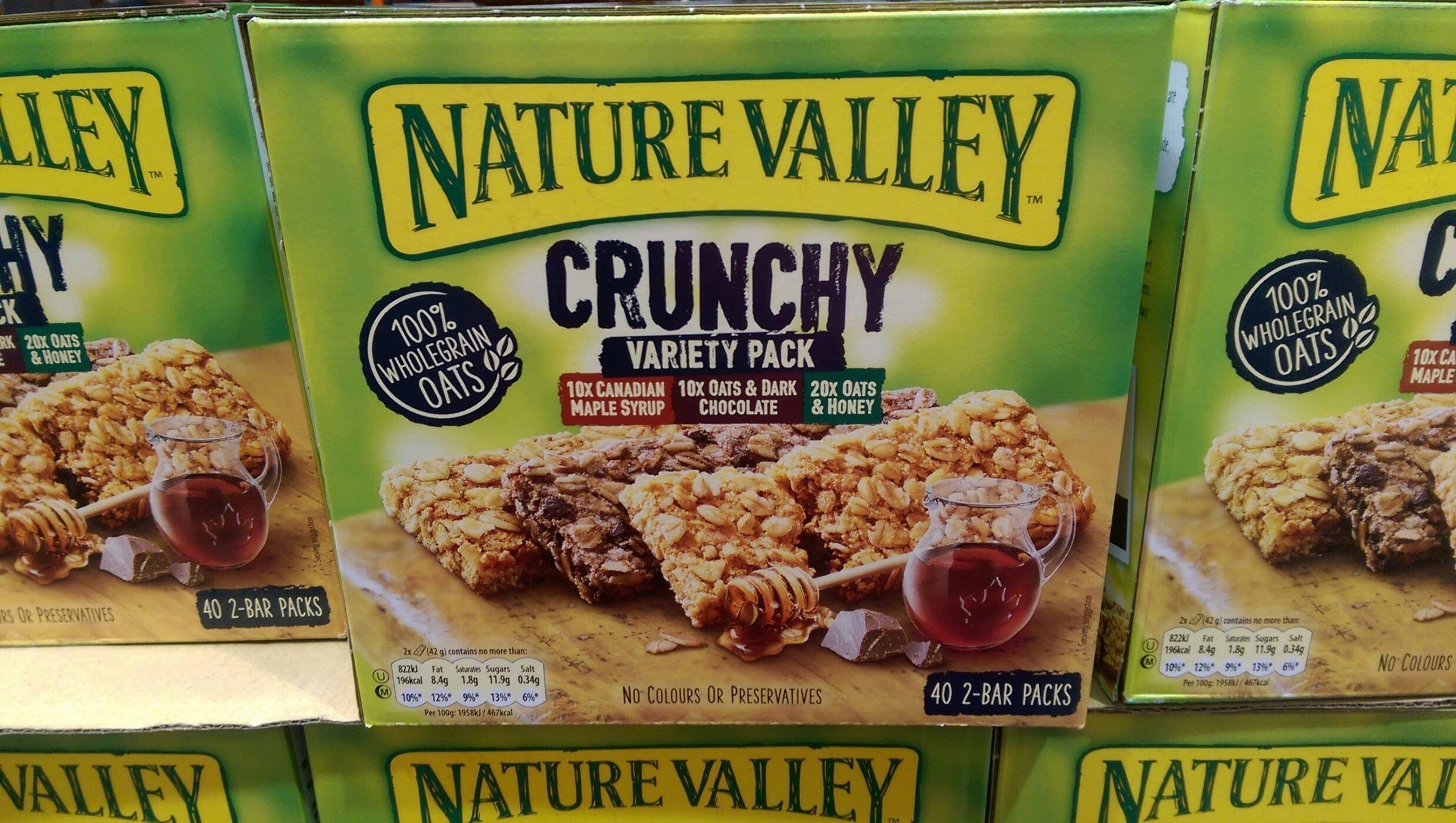 【好市多COSTCO 商品代購】NATURE VALLEY天然谷  綜合燕麥棒1.68公斤(40條)