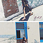 SAS 波希米亞V領寬鬆洋裝 民族風洋裝 波希米亞洋裝 渡假連身裙 飄逸連身裙 寬鬆洋裝 大V領洋裝 366