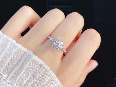 18K金真鑽戒。天然鑽石,80分,FG、SI。閃白唯美,精緻、顯大設計款。