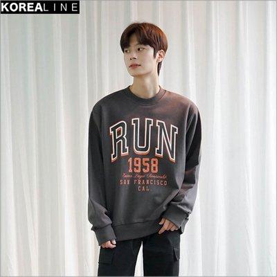 搖滾星球韓國代購 RUN印刷衛衣 / 3色 EF993974