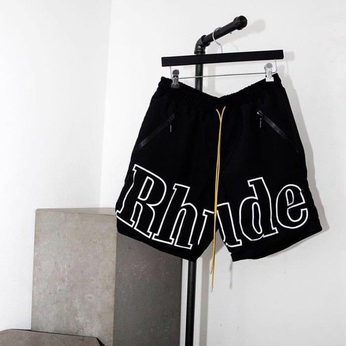 全新商品 Rhude 19SS Basketball Jersey 籃球褲 短褲 運動褲 黑色 灰色反光