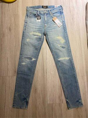 全新 Bobson x Rattle Trap聯名日本製牛仔褲 S約29腰