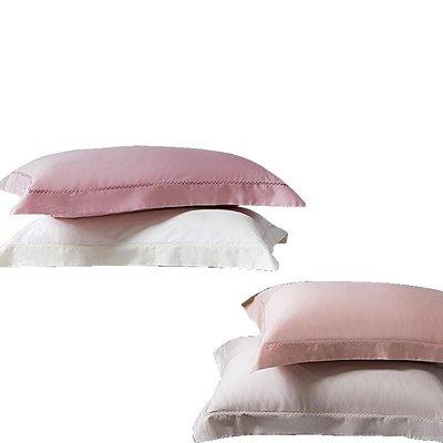 淘趣雜貨店/60支全棉純色夏季枕套純棉一對裝 成人情侶大號48*74cm單人枕頭套(型號不同價格不同)