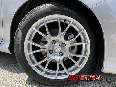 【超前輪業】 正品 ENKEI SC25 16吋鋁圈 4孔100 4孔114.3 5孔100 5孔114.3 高亮銀