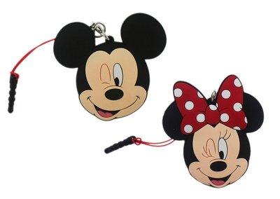 【卡漫迷】 米奇 米妮 防塵塞 + 捲線器 隨身耳機 兩款可選 夾式 集線器 ㊣版 米老鼠 Mickey Minnie