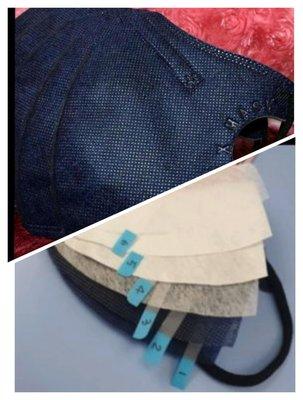 稀有款。高防護。賠售回饋價❇️現貨❇️【6層高防護】  Bnn 立體 PM 2.5防霾口罩「一包50片」六層:Bnn成人立體 極深藍色口罩 少量現貨  售完為止