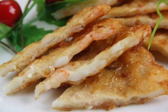 【炸點心系列】澎湖正港月亮蝦餅 (1片) / 約200g~新鮮蝦仁花枝讓您吃起來過癮~