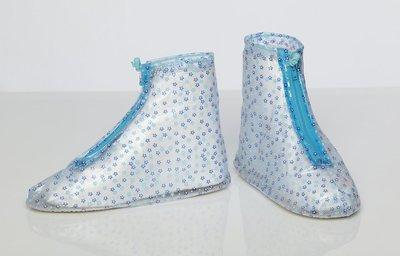 [中壢安信] FairRain 飛銳 花漾平底 防雨鞋套 鞋套 藍小花