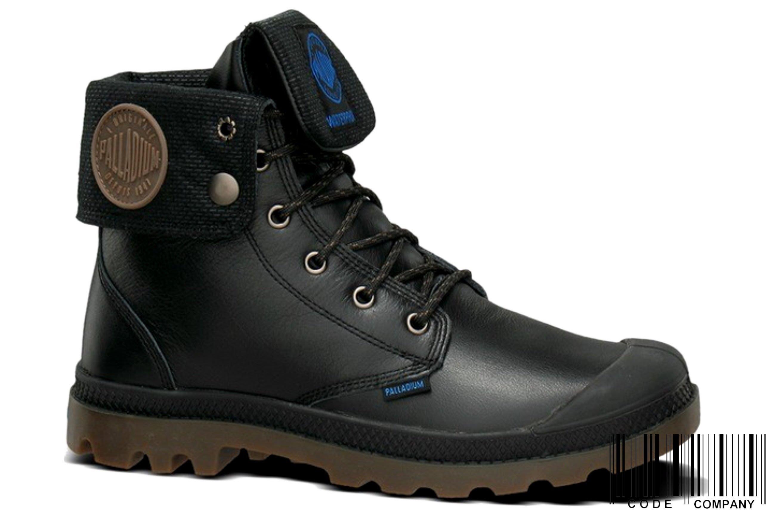 =CodE= PALLADIUM PAMPA SPORT BAGGY WP 防水皮革反折軍靴(黑)72963-057 女