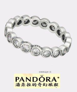 潘朵拉我最便宜{{潘朵拉的奇幻旅程}} Alluring Brilliant Ring Size(50)190942CZ