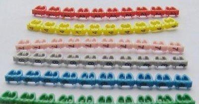五类网线彩色数字线标 网线线码标 尼龙扎带 绑带 号码管58