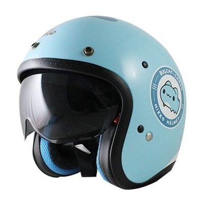 強力安全帽 【Nikko NK-500 貓貓蟲咖波聯名款】 3/4罩復古安全帽(購買加贈抗UV專屬長鏡片)
