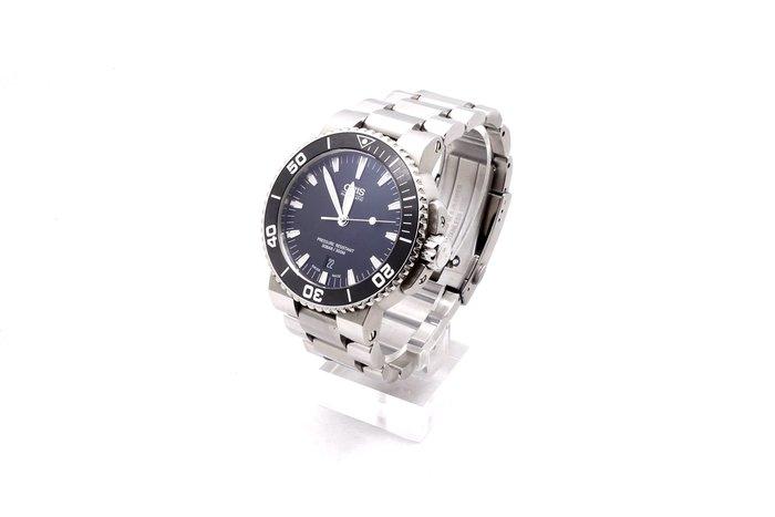 【台中青蘋果】ORIS Aquis 深度計自動黑色男士鋼錶 73376754154MB #28326