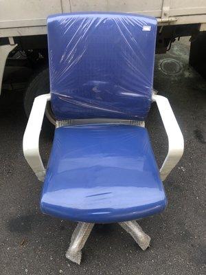 非凡二手家具 全新庫存 透氣網布升降辦公椅(藍)*電腦椅*主管椅*升降椅*洽談椅*接待椅*秘書椅*活動椅*書桌椅*休閒椅