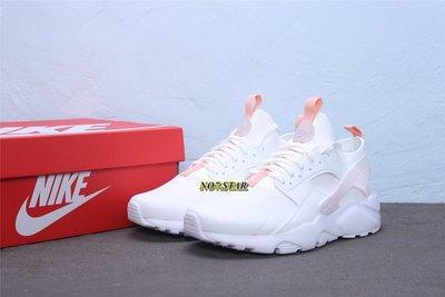 NIKE Air Huarache Run Ultra  武士 蜜粉 白粉 針織 休閒 慢跑 女鞋 847568-016