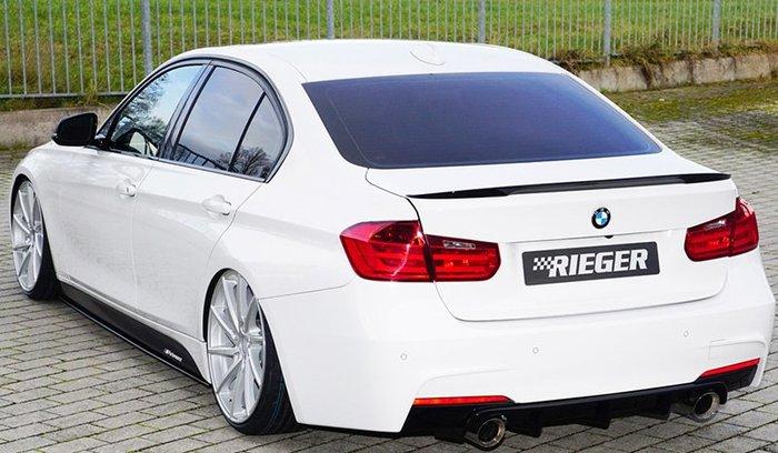 【樂駒】RIEGER BMW F30 F31 LCI rear skirt insert 後下巴 後下擾流 高亮黑 改裝