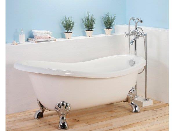 《101衛浴精品》100%台灣製 120/130140/150 雙層 高亮度壓克力 古典浴缸 獨立浴缸【免運費搬上樓】