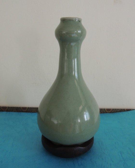 【和喜堂】元代~龍泉蒜頭瓶
