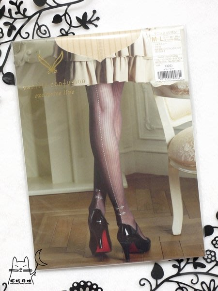 【拓拔月坊】福助 Vanilla Confusion 特色絲襪 水鑽 背線蝴蝶結 日本製~折扣季!