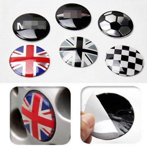 MINI英國國旗 鋁圈輪胎蓋 中心蓋 輪圈蓋 輪胎貼 R60 R53 R56 R58 R55 R59 F55 A0106