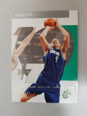 【球員卡】02-03 Topps Ten Relic Parallel D.Nowitzki 限量球衣0113/1500