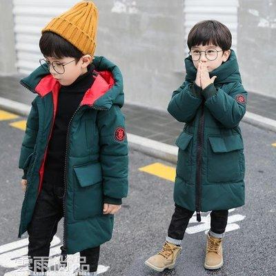 兒童羽絨服 童裝男童棉衣中長款新款兒童冬裝外套中大童羽絨棉服加厚棉襖 雲雨尚品